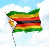 Markierungsfahne von Zimbabwe Lizenzfreies Stockfoto
