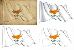 Markierungsfahne von Zypern stock abbildung