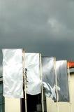 Markierungsfahnen auf dem Wind II Stockbild