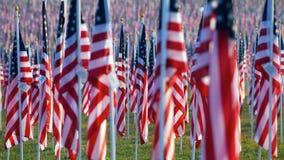 Markierungsfahnen auf den heilenden Gebieten für 9/11 Lizenzfreie Stockbilder