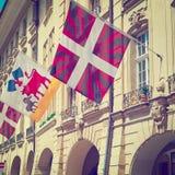 Markierungsfahnen in Bern Stockfoto
