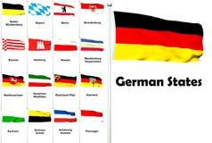 Markierungsfahnen der deutschen Staaten Lizenzfreie Stockfotos