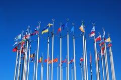 Markierungsfahnen der europäischen Länder Lizenzfreies Stockbild