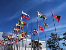 Markierungsfahnen der Länder der Welt Lizenzfreies Stockbild