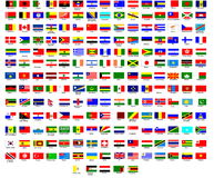 Markierungsfahnen der Welt Lizenzfreie Stockfotos