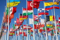 Markierungsfahnen der Welt Stockfotos