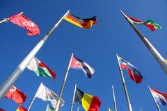 Markierungsfahnen der Welt Lizenzfreie Stockbilder