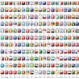 Markierungsfahnen der Welt Stockbilder