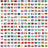 Markierungsfahnen der Welt Stockfoto