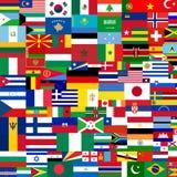 Markierungsfahnen der Welt vektor abbildung