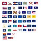 Markierungsfahnen der Zustände von USA mit Vektor formatieren Lizenzfreie Stockfotos