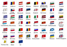 Markierungsfahnen des europäischen Landes 3d Lizenzfreies Stockbild