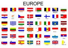 Markierungsfahnen des europäischen Landes Lizenzfreie Stockbilder