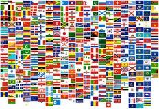 Markierungsfahnen des Weltlandes, -zustände und des -marine (Krieg, FI Stockbild