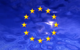 Markierungsfahnen-Europäische Gemeinschaft 2 Lizenzfreie Stockbilder