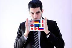 Markierungsfahnen G8 Lizenzfreies Stockbild