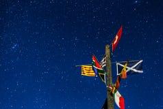 Markierungsfahnen und Sterne Lizenzfreies Stockbild