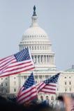 Markierungsfahnen und US-Kapitol Lizenzfreies Stockbild