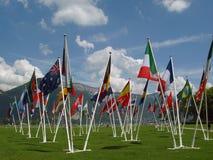 Markierungsfahnen unserer Welt, Annecy, Franc Lizenzfreie Stockfotos