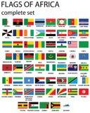 Markierungsfahnen von Afrika Lizenzfreie Stockfotografie