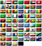 Markierungsfahnen von Afrika Stockfotos