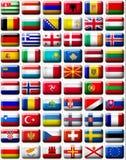 Markierungsfahnen von Europa Lizenzfreie Stockfotografie