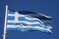 Markierungsfahnen von Griechenland Stockbild