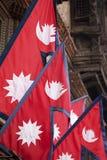Markierungsfahnen von Nepal Lizenzfreies Stockbild