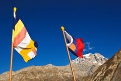Markierungsfahnen von Nepal Lizenzfreie Stockfotografie