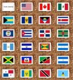 Markierungsfahnen von Nordamerika Lizenzfreies Stockfoto