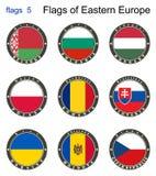 Markierungsfahnen von Osteuropa Flaggen 5 Stockbild
