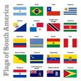 Markierungsfahnen von Südamerika Lizenzfreies Stockbild