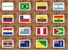 Markierungsfahnen von Südamerika Stockfotos
