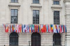Markierungsfahnen in Wien Lizenzfreie Stockfotos