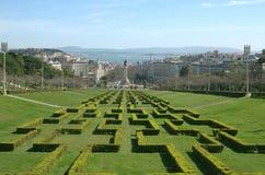 Markies van Pombal-Vierkant lissabon portugal stock foto