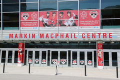 Markin MacPhail Hockey Centre located in Canada Olympic Park. CALGARY, CANADA - JULY 29: Markin MacPhail Centre located in Canada Olympic Park on July 29, 2014 Stock Photography