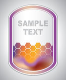 Marking label - laboratory sticker - abstract background Stock Images