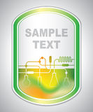 Marking label - laboratory tagging - abstract background Royalty Free Stock Images