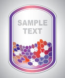 Marking label - laboratory tagging - abstract background Royalty Free Stock Photography
