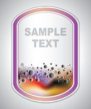 Marking label - molecular structure - abstract background Stock Photography