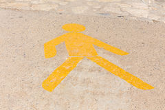 Marking pedestrian zone Stock Image