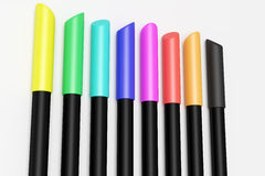 Marking pen. 3d rendering of some colored marking pens Stock Images