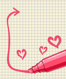 Marking pen frame Royalty Free Stock Images