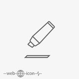 Marking pen vector icon. On grey background Stock Images