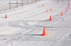Marking of the ski slopes Stock Image