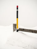 Marking in the snow Royalty Free Stock Photography