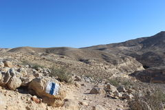 Marking on a stone - Israel national trail Stock Photography