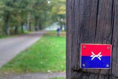 Marking Westerborkpad in Kamp Westerbork Royalty Free Stock Images