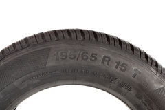 Marking winter tire isolated on white background Stock Images