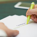 Marking words in a communism definition Royalty Free Stock Image